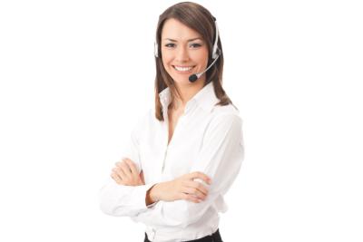 woman wearing headphones smiling