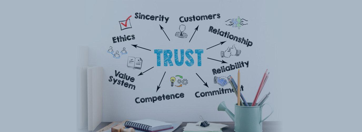 trust text design
